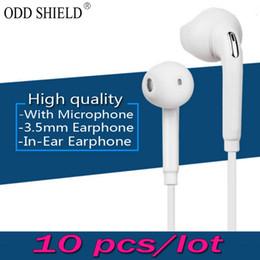 Wholesale High Quality Earpiece - ODD SHIELD 10 pcs lot High quality In-Ear Sports Earphone Earbuds earpiece Earphones for xiaomi Samsung Galaxy s4 s5 s6 s7 note