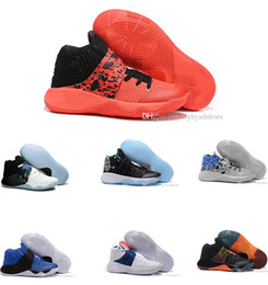 Wholesale Rainbow Shoes Sale - Cheap Sale new Kyrie 2 Classic BHM Champion USA Cavs Rainbow Wolf Kyrie Irving Women Kid Mens Basketball Shoes Retro Sneakers US5-12