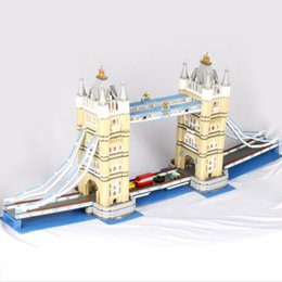 Wholesale London Model - Lepin 17004 4295pcs Set London Bridge Model Building Kits Brick Kids DIY Toys Compatible With 10214 Children Birthday Gifts