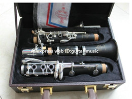 Wholesale nickel cases - Buffet R13 Bb Clarinet For Students 17 Key Nickel Plated Surface Bakelite Body With Case Top Selling From China Free Shipping
