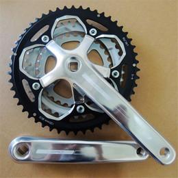 Wholesale Road Crankset - 9 speed Crankset Bicycle Components MTB Mountain Bike Chain Wheel 9 Speeds 50*39*30 172.5mm Top Quality Bike Chainwheel NGT new guy steps