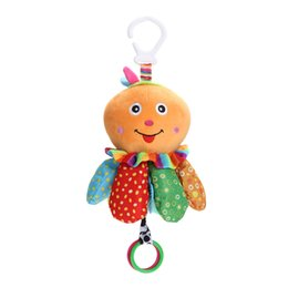 Wholesale Octopus Plush Animals - Baby Toys Handbell Shaker Soft Octopus Plush Rattles Toys Educational Bed Hanging Musical For Newborns Babies 0-12 Month