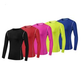 Blusas femininas apertadas on-line-Mulheres Aptidão T-shirt Apertado Seco Fit Formação Blusa Esporte Terno de Corrida Sportswear Camisa de Manga Longa Ginásio Yoga