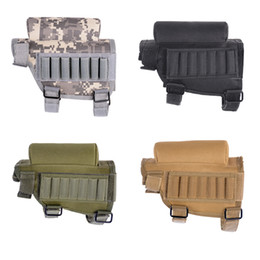 Wholesale plain magazine - Tactical Hunting Rifle Cheek Rest Buttstock Gun Bullet Stock Ammo Shell Magazine Molle Pouch Cartridge Holder Bag