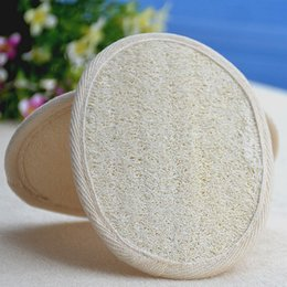 Wholesale Pad 11 - Natural Exfoliator Loofah Bath Pad Loofah Scrubber Remove Dead Skin Home Hotal Shower Pad Soft Sponges 11*16cm AAA43