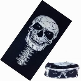 Wholesale mask human - Hundred Changes Human Skeleton Scarfs Multi Function Magic Headscarf Men Women Halloween Decorate Mask Prop Seamless Personality 1 05dn cc