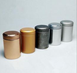 Wholesale tea tin cans - Size: dia.45x67mm round tea tin box tea container for 10~20g tea packing food tin can