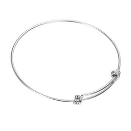 Wholesale Hand Made Bracelets For Men - LASPERAL Simple Style Adjustable Men Stainless Steel Bracelets For Women Charms Bracelets & Bangles Hand made Jewelry DIY