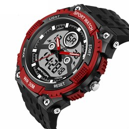 Wholesale Top Selling Digital Watches - 2018 SANDA Fashion Men's Watch Top Brand Luxury Men Outdoor Waterproof Sports Watches Digital Watch Relogio Masculino Hot Sell Hand