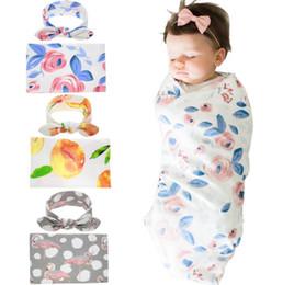 2019 cobertor de swaddle simples Europa Do Bebê Florais Flamingo Envoltório Swaddle Cobertor Envoltórios Cobertores Berçário Cama Towelling Bebê Infantil Embrulhado Pano Com A ...