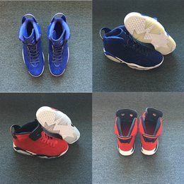 Wholesale Popular Culture - NEW styles Product SHOES 6 BLUE Men Basketball Shoes 6s red popular High Quality fashion Sneaker fashion style PK WITH BOX