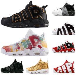 buy online 4a3d9 8396d Nike AIR More UK Frankreich GOLD Tri-Color Flachs Air mehr Uptempo QS  Olympische Varsity Gym Rot Schwarz Herren Basketball Schuhe Airs 3M Scottie  Casual ...