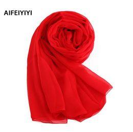 Écharpe en soie solide en été en Ligne-Summer sunscreen silk scarf solid Ms. silk scarf spring and autumn multicolor wide beach towel silk scarf shawl S18120301