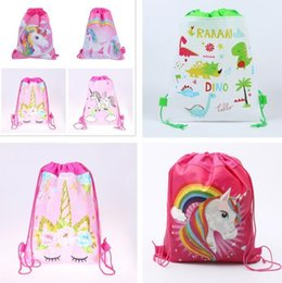 ragazzi scuola ragazze ragazze Sconti Hot Unicorn Zaino Drawstring Ragazze Principessa Bambini Tema Partito Zaino Borse Candy Borse Zaino Scuola D0034