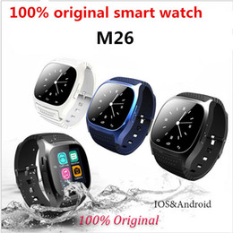 Wholesale Home Sms Control - Smart Watch M26 Bluetooth Sport Waterproof Smartwatch With Dial SMS Remind MP3 Pedometer for IOS Android PK watch dz09 gt08