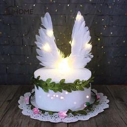 Canada 17x17 cm Creative Ange Ailes Conception De Mariage Cupcake Gâteau Topper pour la Décoration De Fête D'anniversaire Gâteau Drapeaux De La Cuisson Décor Fournitures cheap wedding decoration angels Offre