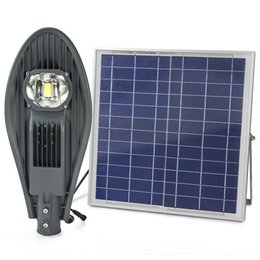 Wholesale Integrated Solar - Remote Solar Street Light 20W 30W Waterproof Integrated all in one led solar street light Bridgelux LED Light Source Outdoor Solar Lamps
