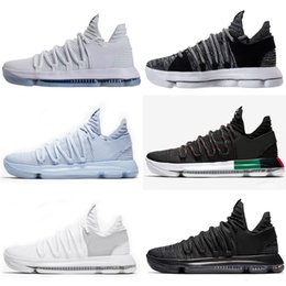 kevin days NZ - 2018 KD 10 X Elite Mid Kevin Durant Sport Sneakers KD 10 Multi-Color Oreo Numbers BHM Igloo Men Basketball Shoes 40-46