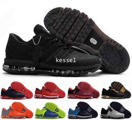 2019 zapatos deportivos al aire libre gris Zapatillas de deporte de la manera M 2017 para hombre, zapatillas de deporte de KPU de la alta calidad 2017 para los deportes de los hombres Zapato atlético del deporte al aire libre anaranjado gris negro 7-12 zapatos deportivos al aire libre gris baratos