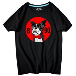 Wholesale Dog 4xl - Casual Men's short sleeve O-Neck Cartoon Dog Printed large size T Shirts Summer High Quality Hipster tee shirts