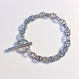 Ot bracelete on-line-Jóias de marca quente europeus e americanos Homens e mulheres suave nariz de porco pulseira corda japonesa OT fivela pulseira