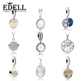 Wholesale Count Day - EDELL925 Count with Tree of Life Pendant Light Green Silver Necklace Moon & Star Ms. Fashion Jewelry Gift Pendants