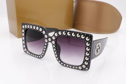 Wholesale Pc Specials - 0145 Luxury Brand Sunglasses 0145S Large Frame Elegant Special Designer with Rivets Frame Built-In Circular Lens Top Quality Come With Case