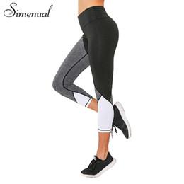 Wholesale Harajuku Leggings - Simenual Patchwork harajuku cropped legging sportswear fitness clothes for women bodybuilding jeggings leggings female pants hot