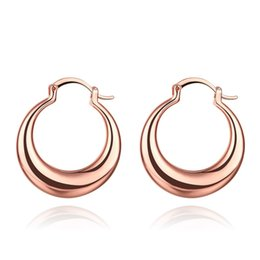 Wholesale Indian Costumes For Women - 18K White Rose Yellow Gold Plated 3CM Round Circle Loop Hoop Huggie Earrings Fashion Party Costume Jewelry Bijoux for Women Girls