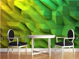 Wholesale japan roll - 3d Wallpaper Abstract Photo Mural for Living Room Bedroom Wall Paper Rolls papel de parede 3d papel mural rollo Green Custom