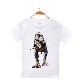 Wholesale Boys Dinosaur Shirts - 2018 New Arrival Children Clothes Kids T-shirts Animal Dinosaur 100% Cotton Child Boys Short T Shirt Baby Clothing Girls Tops Tees 4-12T