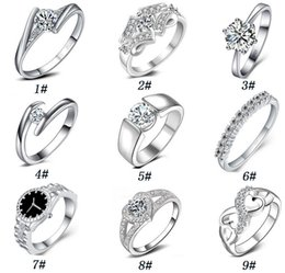 Wholesale brilliant solitaire - 925 sterling silver Diamond Wedding Rings for women White gold round brilliant wedding band wedding Ring eternity band High quality jewelry