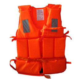 Wholesale Kids Sports Whistle - Kid To Adult Size Life Vest With Survival Whistle Water Sports Foam Life Jacket For Drifting Water-skiing Upstream Surfing