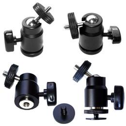 """Kopf montiert camcorder kameras online-1/4 """"Gewinde Mini Kugelkopf Hot Shoe Adapter 360 Grad Halterung für Kameras, Camcorder, Smartphone, Gopro, LED-Videoleuchte, Mikrofon"""