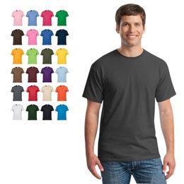 Wholesale Bulk Shirts - Bulk Lots 25 Solid Colors XS~XXL Cotton Polos Women Men Short Sleeve T-Shirt Breathful Tees Crew Neck Male Tops