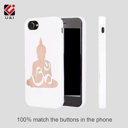 Wholesale Cool Cell Cases - Lucky buddha design cool wood monile cell phone cases for iPhone 6 7 8 6s , white tpu rubber protection cases for i Phone