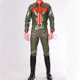 Seksi lateks üniforma tarzı pantolon KAUÇUK LATEX pantolon kostüm supplier xs latex costume nereden xs lateks kostüm tedarikçiler
