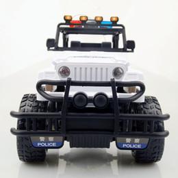 voiture de police à distance Promotion Super voiture de police télécommandée chargeant une voiture télécommandée de jouet pour enfants hors route 1: 12