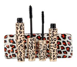 Canada 2 Magic Leopard Lashes Fiber Mascara Pinceau Yeux Noir Long Maquillage Cils Cultivateur étanche Mascara Noir produits Offre