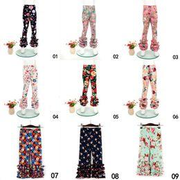 Wholesale Flower Print Leggings Girls - Baby Girls Flower Printed Leggings Kids print Florals Lace Pants Toddler Tights 0-9T 21Styles Summer Clothing