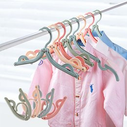 Wholesale Office Wardrobes - Folding Hangers For Clothes Towel Organizer Laundry Hanger Storage Rack Travel Outdoor And Home Wardrobe Travel Rack
