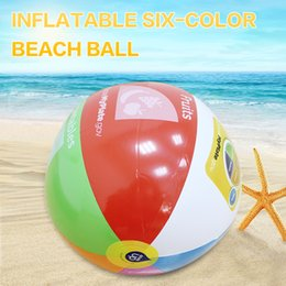 Wholesale Inflatable Pool Games - 2018 Charm Colorful Inflatable 30cm Ball Balloons Summer Water Toys Children Outdoor Game 6 Colors Volleyball Pool & Accessorie
