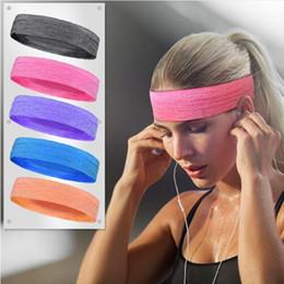 2019 headbags de exercícios grossistas HANDISE livre de skid elástico de silicone Sweatband bandas de cabelo seco rápido Sweat Absorção Correndo Yoga Gym Head Band Sports Headbands