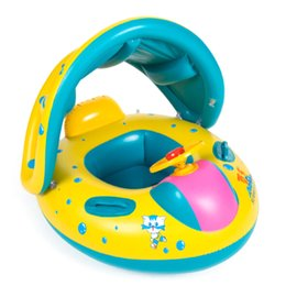 Wholesale infant inflatable pool - Safety Baby Child Infant Swimming Float Inflatable Adjustable Sunshade Seat Boat Ring Swim Pool inflatable toy