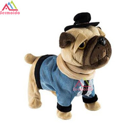 Wholesale Toys For Chinese Children - sermoido Electronic SharPei Dog Pet Singing Chinese Walking Music Electronic Pet Robot Dog Toys For Children Gift For Kid B240