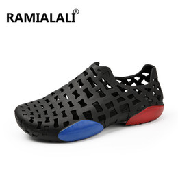 Wholesale Dryer For Shoes - Ramialali 2018 Summer Sandals Men Light Weight Beach Sandals Shoes Outdoor Breathable Quick Dry Water Shoes for Men