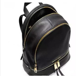 Wholesale Ladies Floral Backpack - backpacks designer 2017 fashion women lady black red rucksack bag charms free shipping