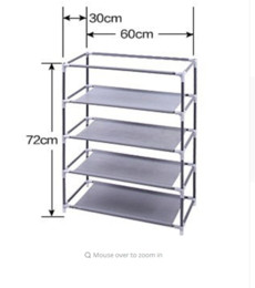 Wholesale Shoe Cabinet Rack - Simple 5-layer shoe rack Waterproof Oxford cloth shoe cabinet Easy shoe rack Multi-storey Household assembly Economical dormitor