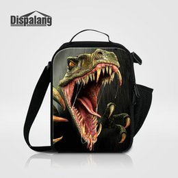 Wholesale Thermal Lunch Picnic Bag - Men Small Picnic Food Lunchbox Cool Animal Dinosaur Deer Lizard Printing Lunch Bag For Children Thermal Insulated Cooler Bags Meal Package