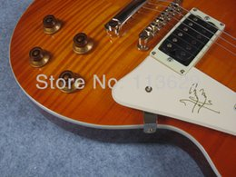 Wholesale Page Guitar - Factory wholesale Jimmy Page Number One Electric Guitar, One PC Neck, Golden Hardware, LP Signature Electric Guitar free shipping